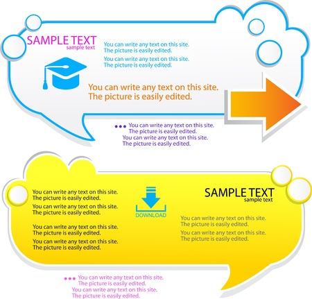 Colorful speech frame for text Stock Vector - 10039028