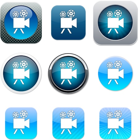 Video camera Set of apps icons. Vector illustration. Stock Vector - 10039085