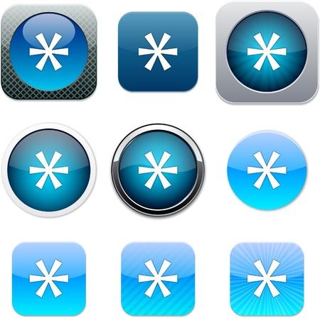 asterisk: Asterisk Set of apps icons. Vector illustration.