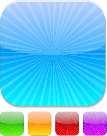 Ensemble des icônes de couleurs modernes. Vector illustration.