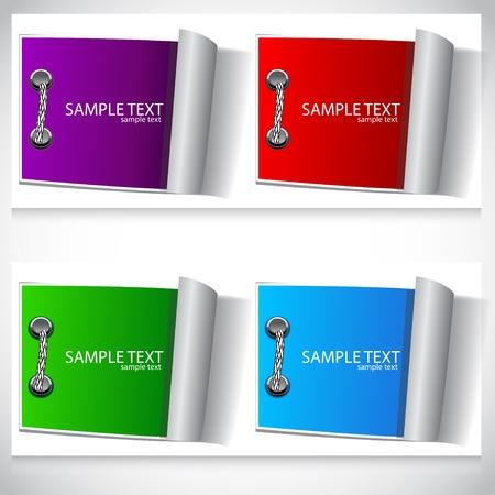 Colorful labels set Vector