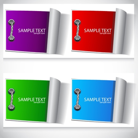 speech marks: Colorful labels set