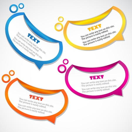 Colorful stickers for speech Vector