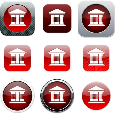 Exchange Set of apps icons. Vector illustration. Stock Vector - 10039058