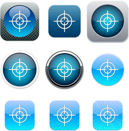 Sight Set of apps icons. Vector illustration. Vector