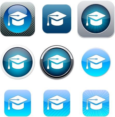 Graduation Set of apps icons. Vector illustration. Stock Vector - 10039056
