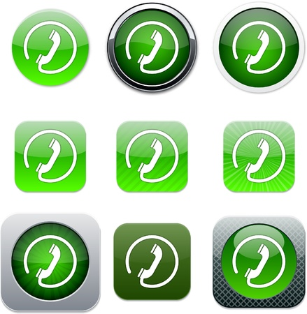 Call Set of apps icons. Vector illustration. Stock Vector - 10039062