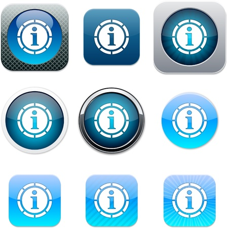 Information Set of apps icons. Vector illustration. Stock Vector - 10039060