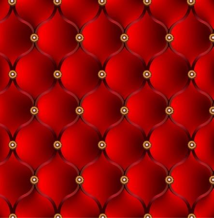 sofa viejo: Tapicer�a roja. Vector de fondo Vectores