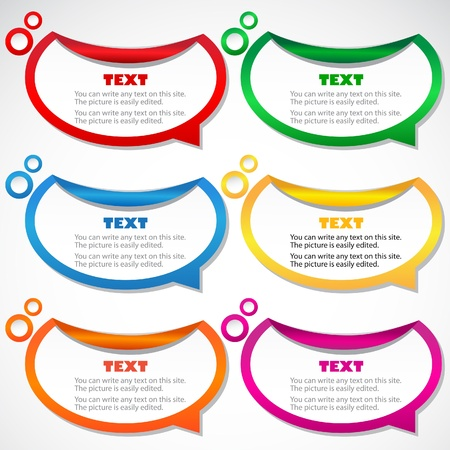 speech marks: Colorful stickers for speech Illustration