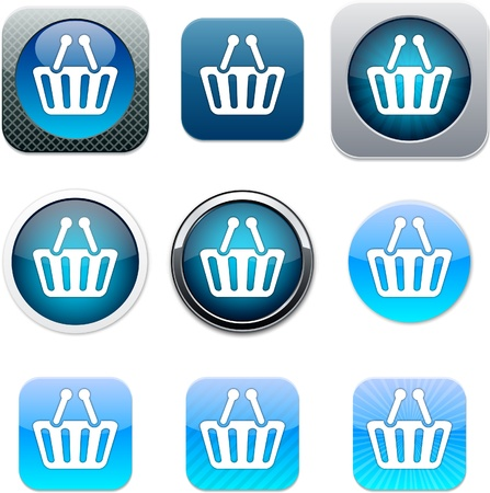 Shopping cart Set of apps icons. Vector illustration. Stock Vector - 10039075