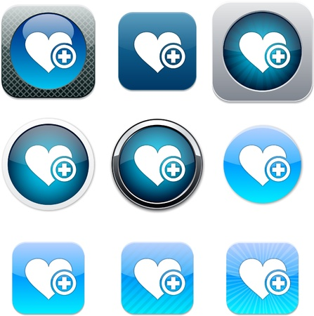 Add to vavorite Set of apps icons. Vector illustration. Vector