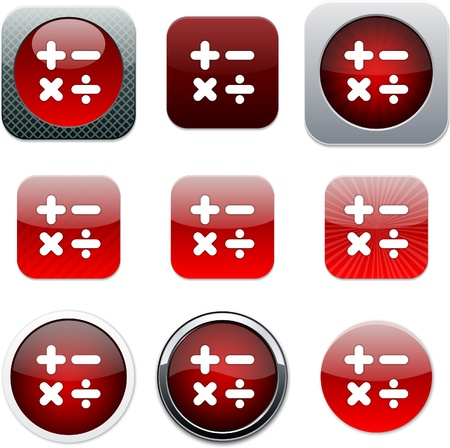 calculus: Calculate Set of apps icons. Vector illustration.