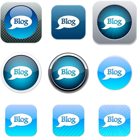 Blog Set of apps icons. Vector illustration.