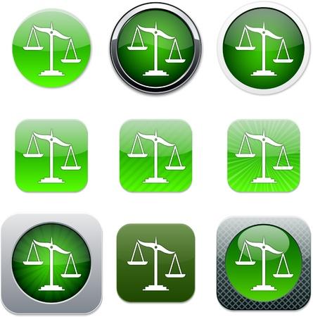 unbalanced: Balance Set of apps icons. Vector illustration.