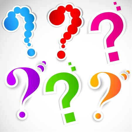 a question mark: Colorful paper question mark for speech