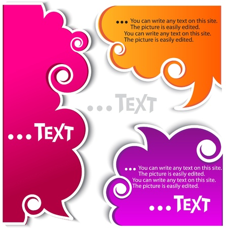 framing: Colorful bubbles for speech