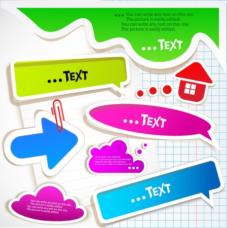 school background: Colorful bubbles for speech