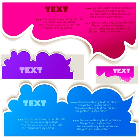 paper background: Colorful bubbles for speech