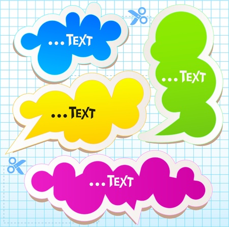 Colorful bubbles for speech Stock Vector - 10505837