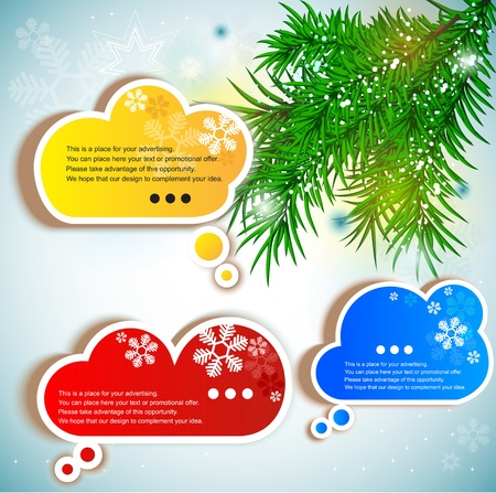Paper speech bubble Stock Vector - 10505845