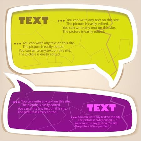 bubble speech: Colorful paper bubble for speech Illustration