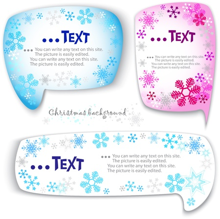 Christmas bubbles for speech Vector