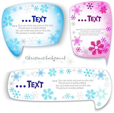 Christmas bubbles for speech Vector