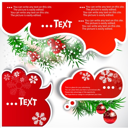 think green: Christmas bubbles for speech Illustration