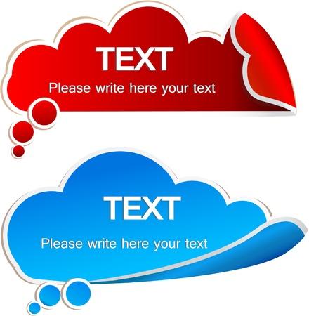 sticker design: Paper speech bubble Illustration