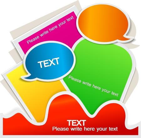 Colorful bubble for speech. Website element Vector