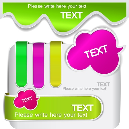 Colorful bookmarks for speech Vector