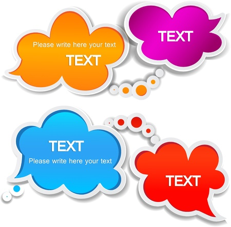 Paper speech bubble Stock Vector - 10755348