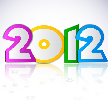 Happy new year 2012.  Stock Vector - 10785178