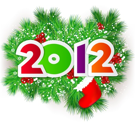 Happy new year 2012.  Vector