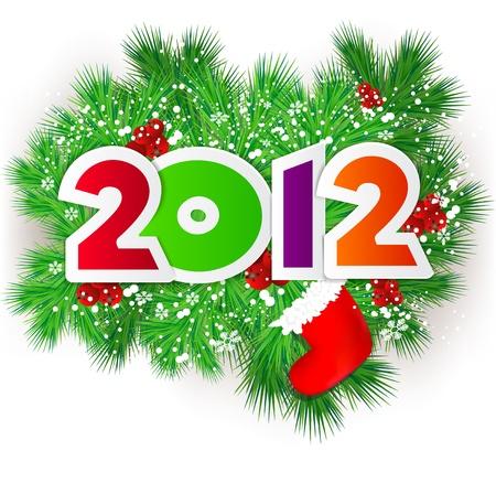 Happy new year 2012.  Vector