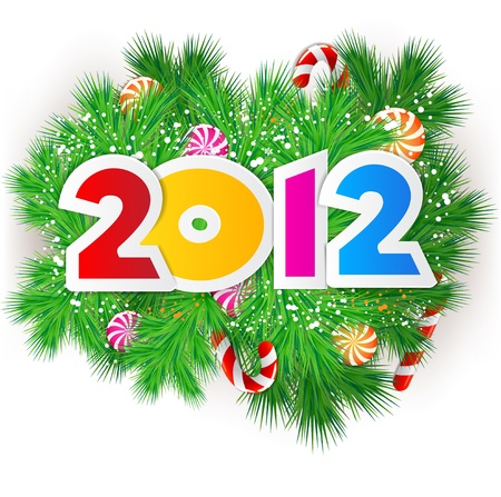 Happy new year 2012. Vector design element.  Vector