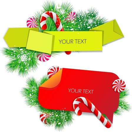 Colorful bubbles for speech. Christmas design Vector