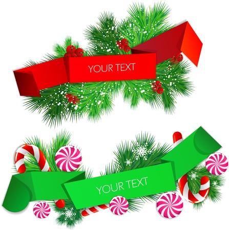 eingestellt von Origami Papier Banner. Weihnachts-Design