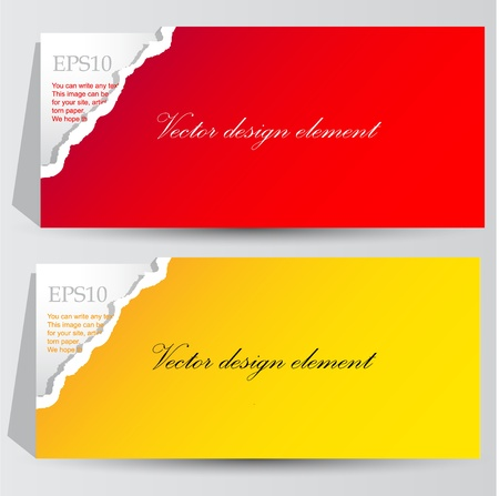 Colorful paper banners for text Vector