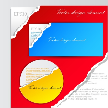 corner design: Colorful paper banners for text
