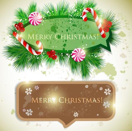 Colorful bubbles for speech. Christmas design Stock Vector - 10880820