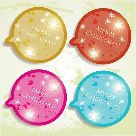 Colorful bubbles for speech. Christmas design Stock Vector - 10880819
