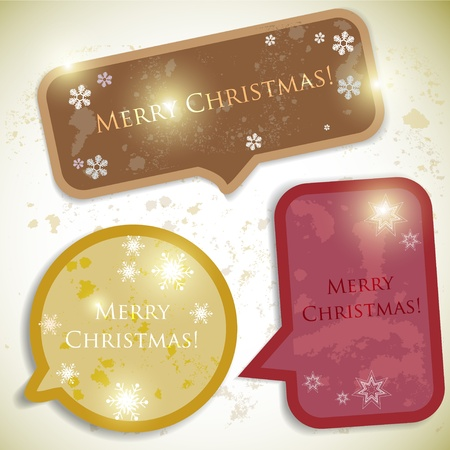 Colorful bubbles for speech. Christmas design Stock Vector - 10920538