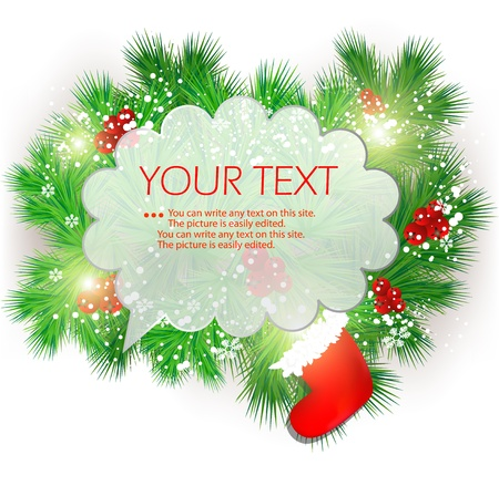 Christmas bubble for speech Vector
