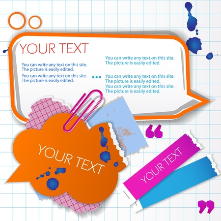 Colorful little notes with space for text Vector