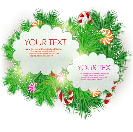 christmas menu: Christmas bubble for speech