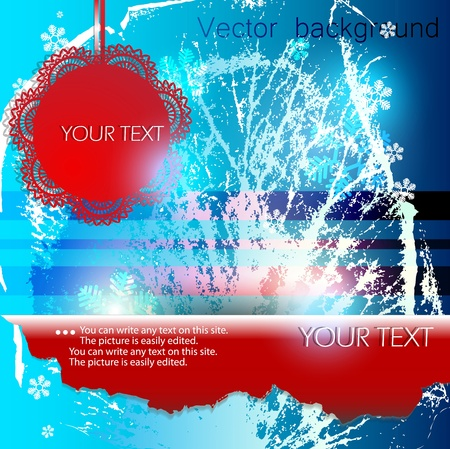 Abstract winter background with space for text Vector