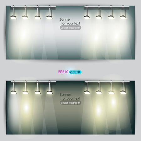 Empty placard for product advertising with lighting Stock Vector - 11021209