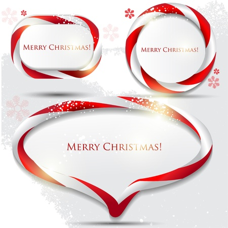 Abstract glossy speech bubble with Christmas candy. Vector background Vektorové ilustrace
